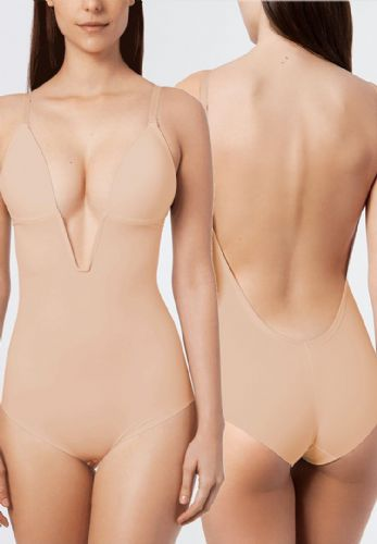 Backless Bridal Body with Plunge Front (Nude)